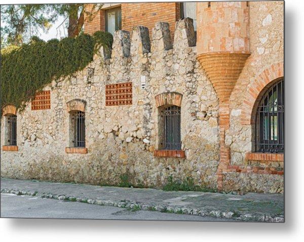 Old Buildings In Codorniu Winery In Sant Sadurni D'anoia Spain Metal Print