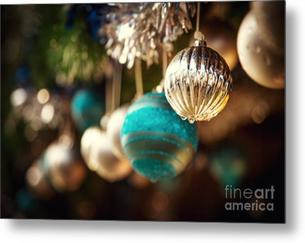 Old Fashioned Christmas Decorations Metal Print