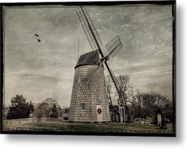 Old Hook Windmill Metal Print