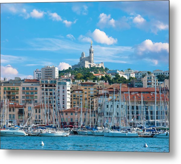 Old Port Of Marseille Metal Print