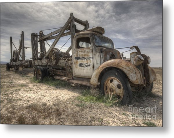 Metal Print featuring the photograph Old Truck by Angela Moyer