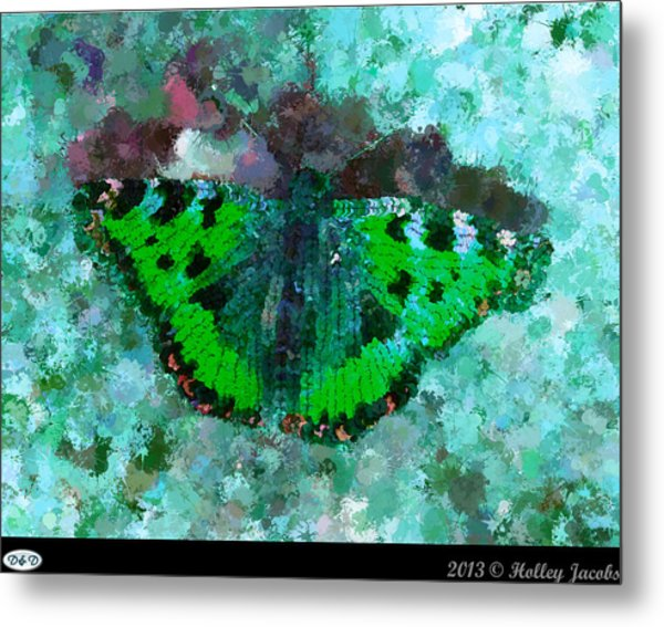 On The Rocks Teal Metal Print by Holley Jacobs