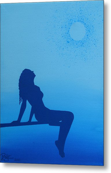 Once In A Blue Moon Metal Print by Lance Bifoss