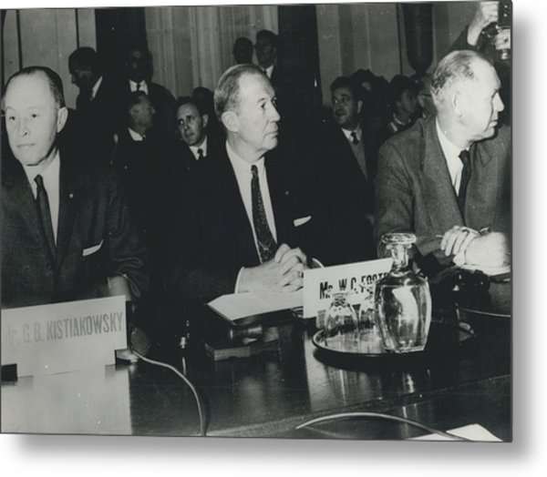 Opening Of The East-west Conference In Geneva. General View Metal Print by Retro Images Archive
