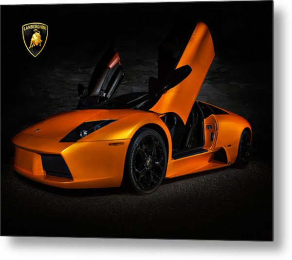 Orange Murcielago Metal Print