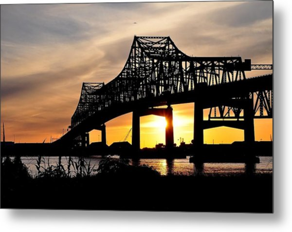 Over The Mississippi Metal Print