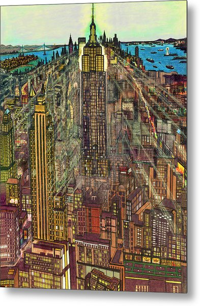 New York Mid Manhattan 1971 Metal Print