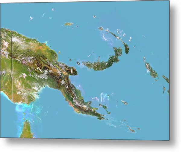 Papua New Guinea Metal Print by Planetobserver/science Photo Library