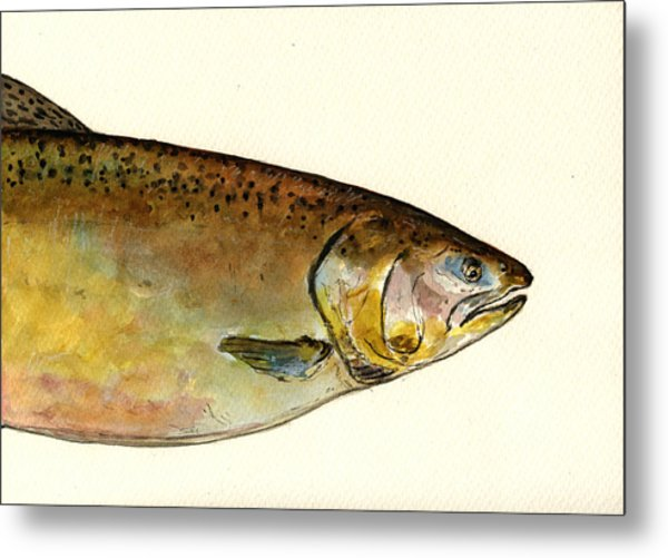 1 Part Chinook King Salmon Metal Print