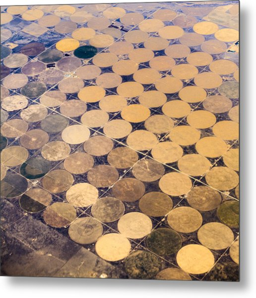 Patchworks. Aerial View To Texas's Fields Metal Print