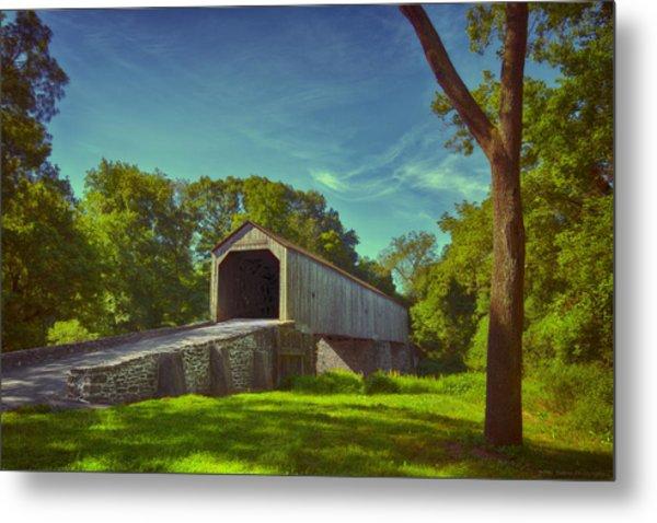 Pennsylvania Covered Bridge Metal Print