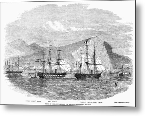 Peru Civil Unrest, 1857 Metal Print