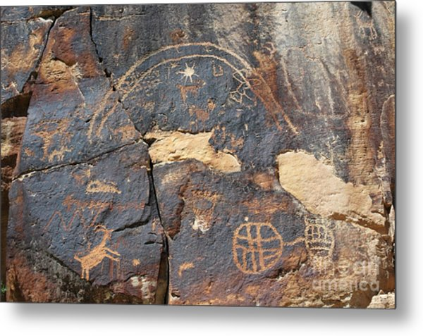 547p Petroglyph - Nine Mile Canyon Metal Print