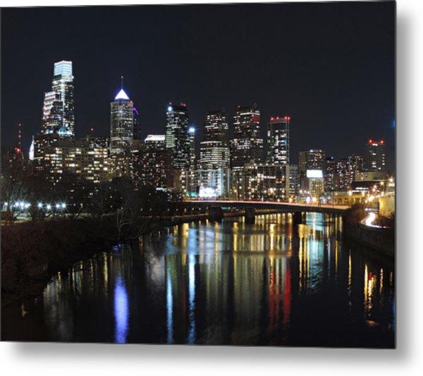 Philadelphia Skyline At Night Metal Print
