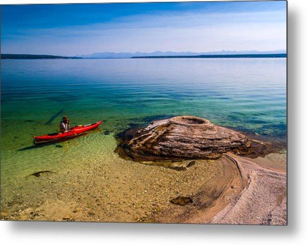 Photographing Fishing Cone Metal Print by Chuck De La Rosa