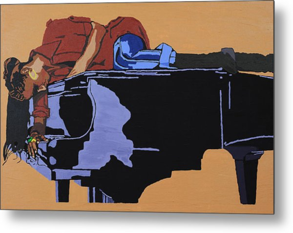 Piano And I Metal Print