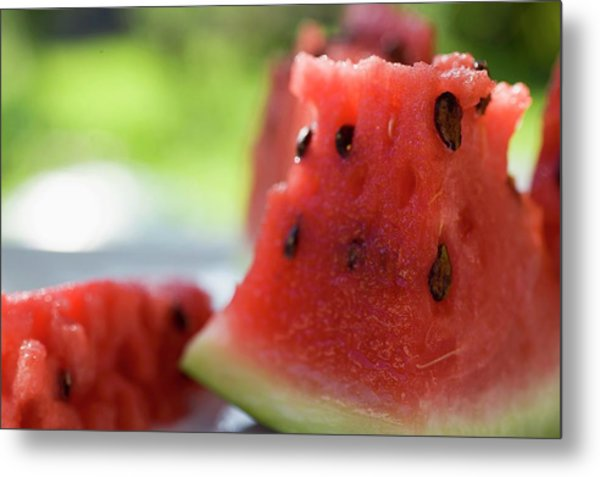 Pieces Of Watermelon Metal Print