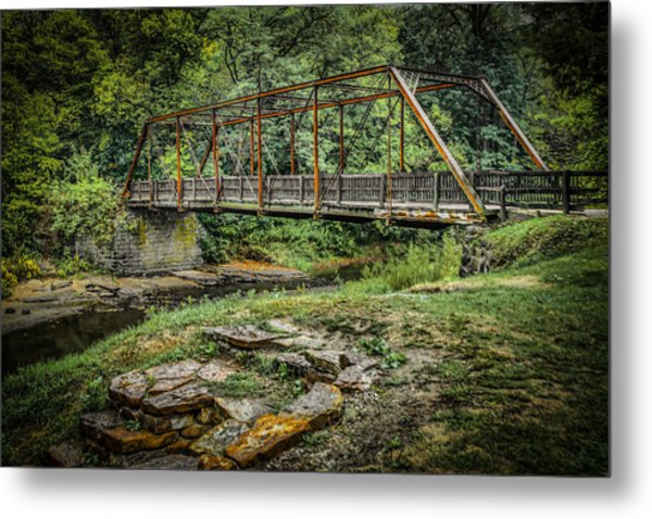 Pine Creek Bridge Metal Print