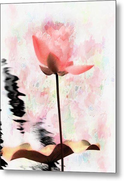 Pink Lotus Metal Print by Carol Kinkead