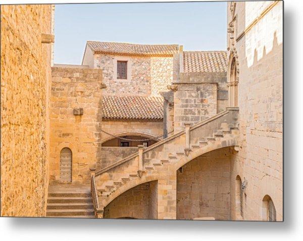 Poblet Monastery Near Barcelona In Catalonia Spain Metal Print