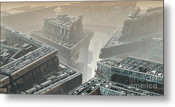 Polychrony Metal Print by Bernard MICHEL