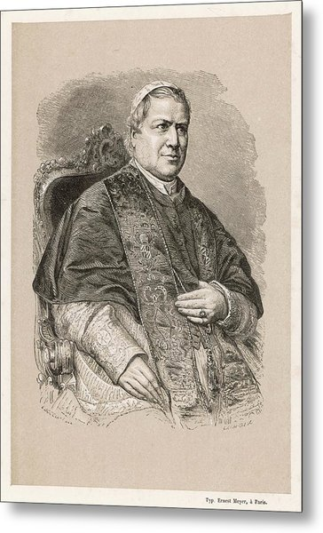 Pope Pius Ix (conde Giovanni Maria Metal Print by Mary Evans Picture Library