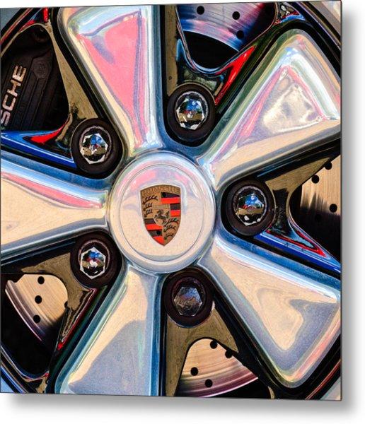 Porsche Wheel Rim Emblem Metal Print