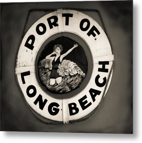 Port Of Long Beach Life Saver Vin By Denise Dube Metal Print