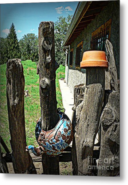 Pots And Posts Metal Print
