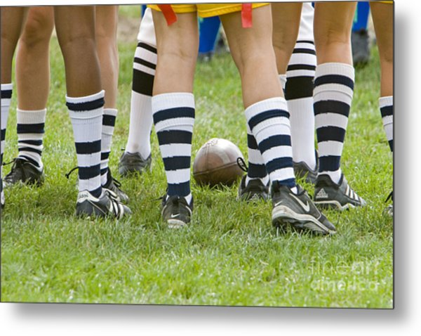 Powderpuff Footbal Metal Print