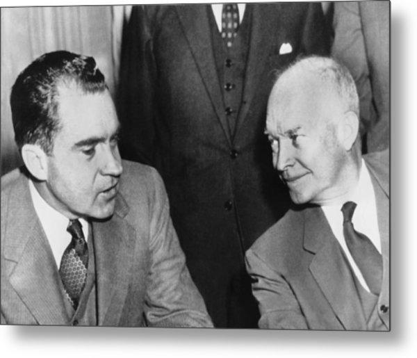 President Eisenhower And Nixon Metal Print