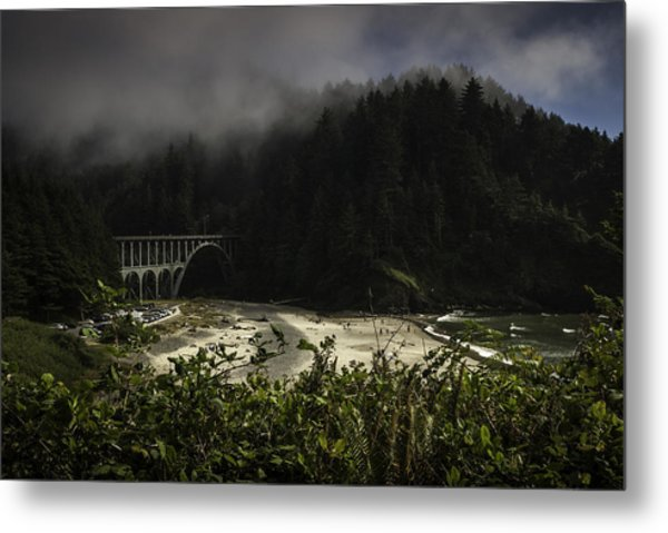 Pretty Trail Up To The Light Metal Print