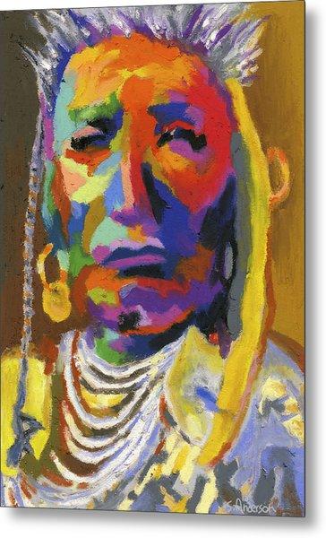Proud Native American II Metal Print
