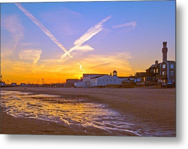 Provincetown Beach At Sunset Metal Print