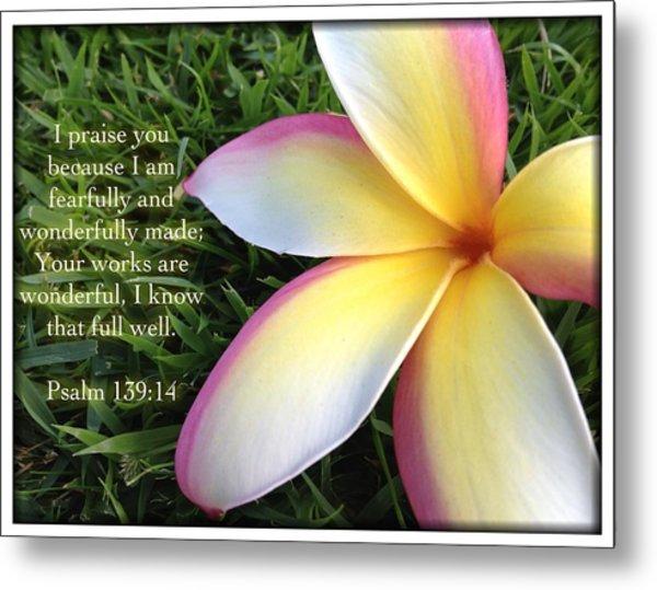 Psalm 139 14 Metal Print