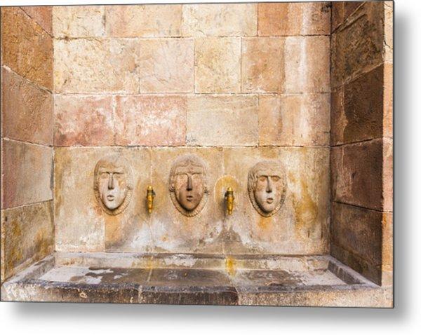 Public Drinking Fountain Barcelona Spain Metal Print