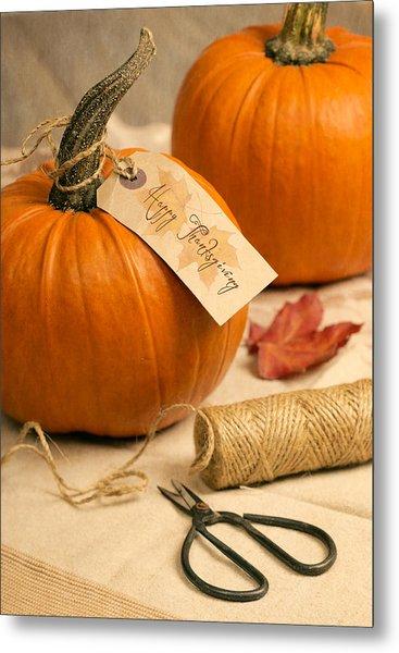 Pumpkins For Thanksgiving Metal Print