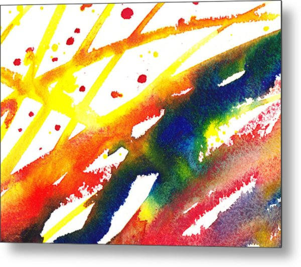 Pure Color Inspiration Abstract Painting Parallel Perception Metal Print