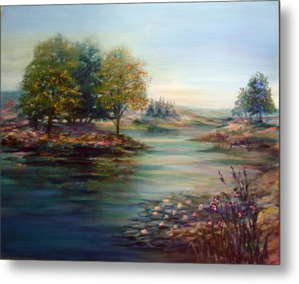 Quiet Day On The Lake Metal Print