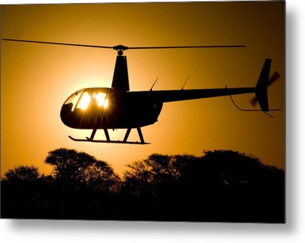 R44 Sunset Metal Print