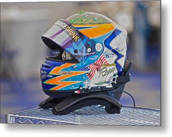 Racing Helmet 2 Metal Print by Dave Koontz