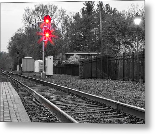 Rail Road Tracks Metal Print