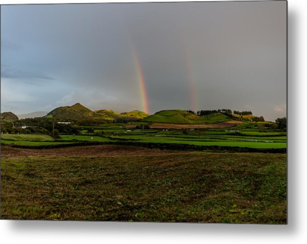 Rainbows Over The Mountain Metal Print