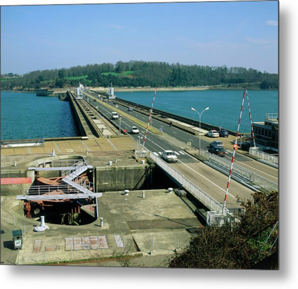 Rance Tidal Power Barrage Metal Print by Martin Bond/science Photo Library