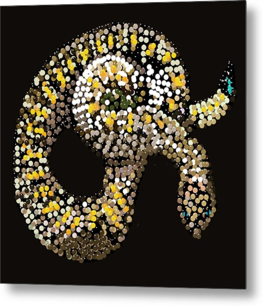 Rattlesnake Bedazzled Metal Print