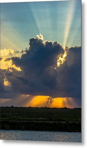 Rays From The Clouds Metal Print