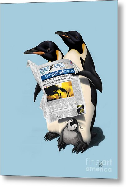 Read All Over Colour Metal Print