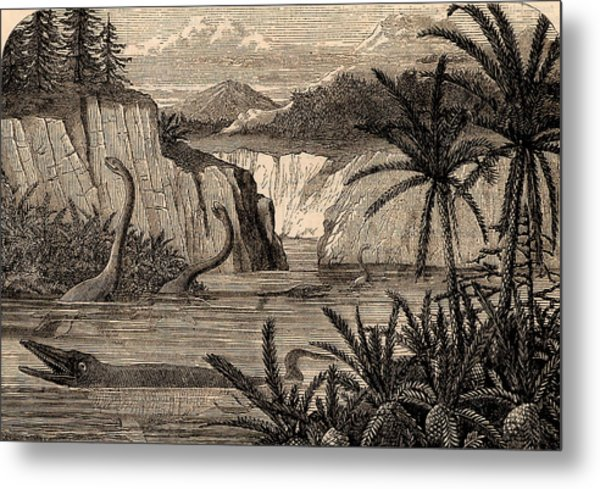 Reconstruction Of Dinosaurs Metal Print by Universal History Archive/uig