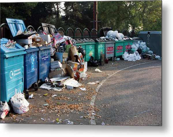 Recycling Site Metal Print by David Taylor/science Photo Library