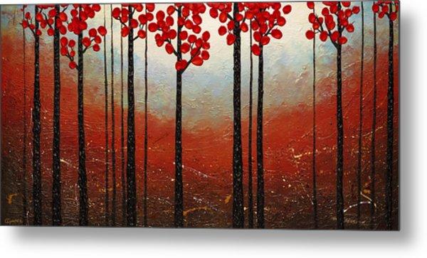 Red Blossom Metal Print